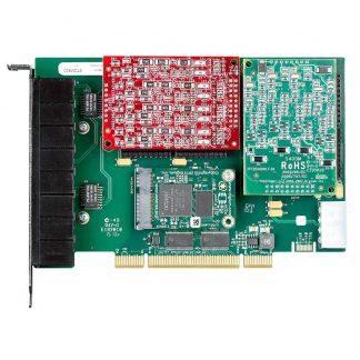 Digium 1A8A04F là một thẻ PCI mô-đun hỗ trợ tối đa tám kết nối analog. Thẻ PCI này bao gồm bốn FXS và bốn kết nối FXO. Trao đổi các mô-đun trên card PCI Digium 1A8A04F để thay đổi cấu hình và mạng của bạn phát triển. Việc hủy bỏ tiếng vang bao gồm cho chất lượng âm thanh của card mạng di động PCI. Thẻ PCI này tương thích với các hệ thống Asterisk.